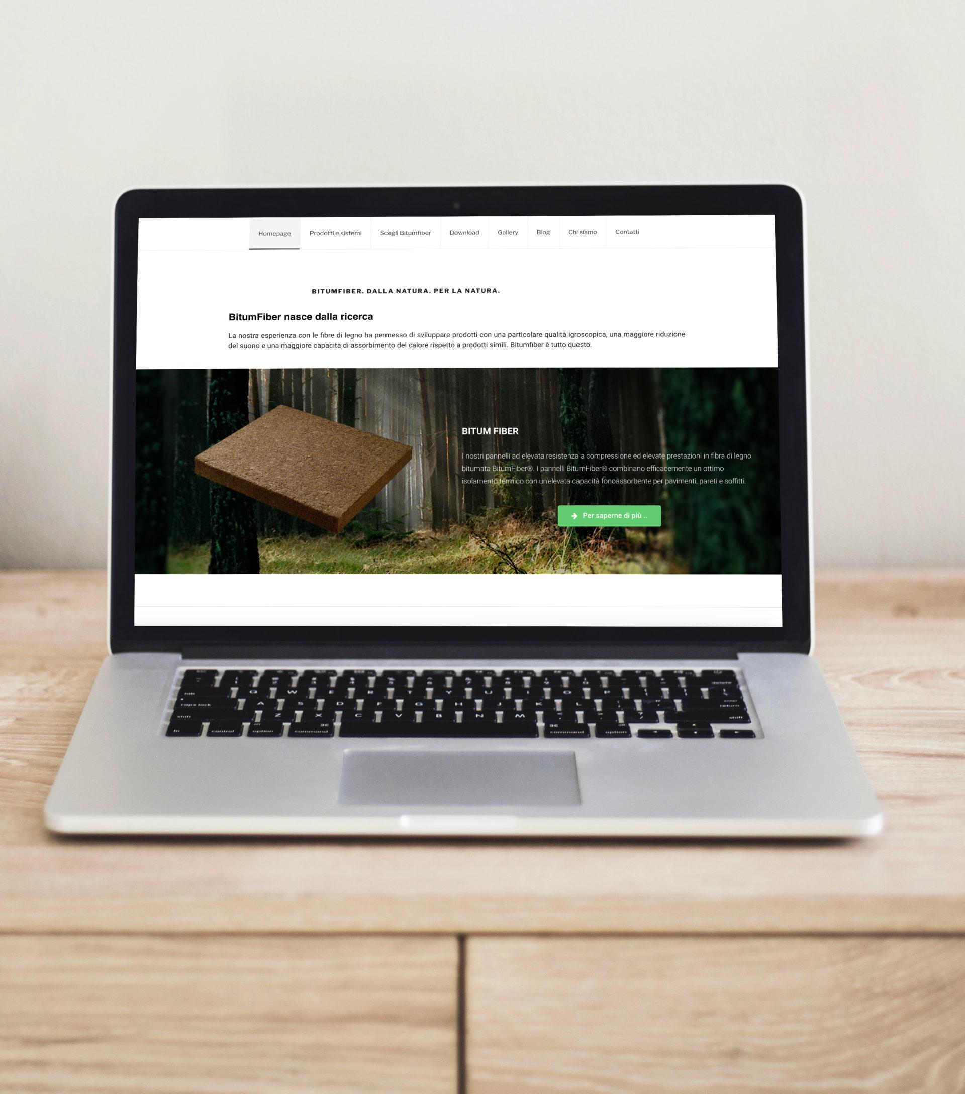 Web design e web develop Bitumfiber - progettazione e sviluppo di un sito web wordpress a layout responsive