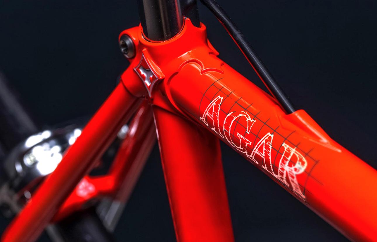Grafica logo, immagine coordinata Agar bike
