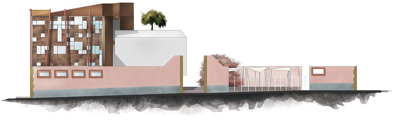 Progetto architettonico Al treque - progetto grafico, modello 3D e rendering