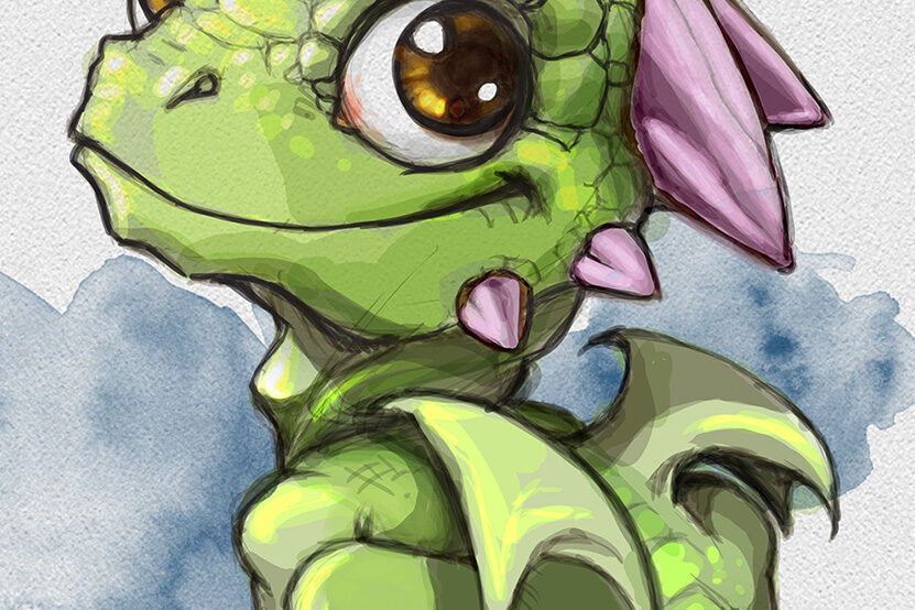 Digital Art Little Dragon