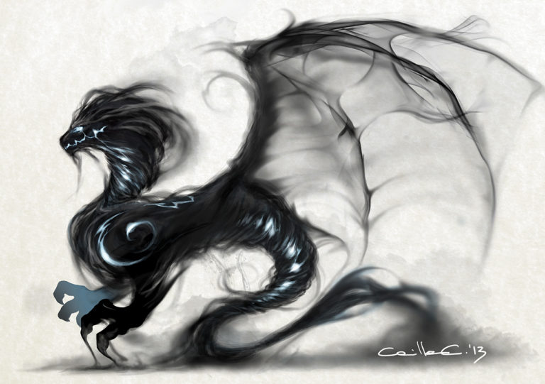 Digital Art Smoke Dragon