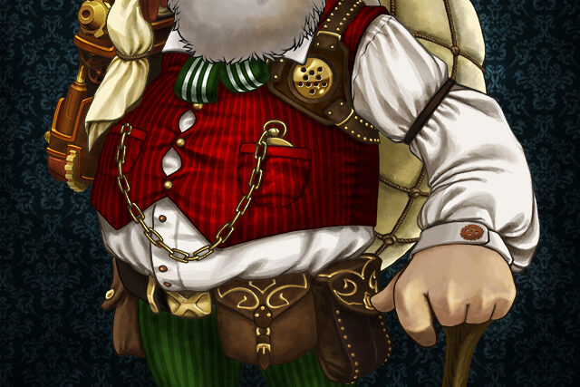 Digital Art Steampunk Santa