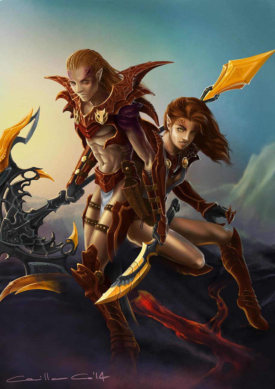 Illustrazione digitale, artwork, per libri e giochi di ruolo, progettazione personaggi fantastici - Vaheru