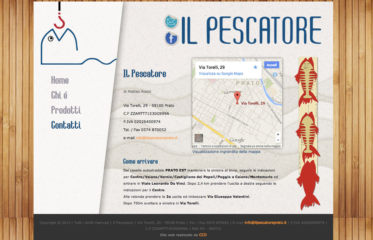 Web design e web develop Il Pescatore - progettazione e sviluppo di un sito web a layout statico