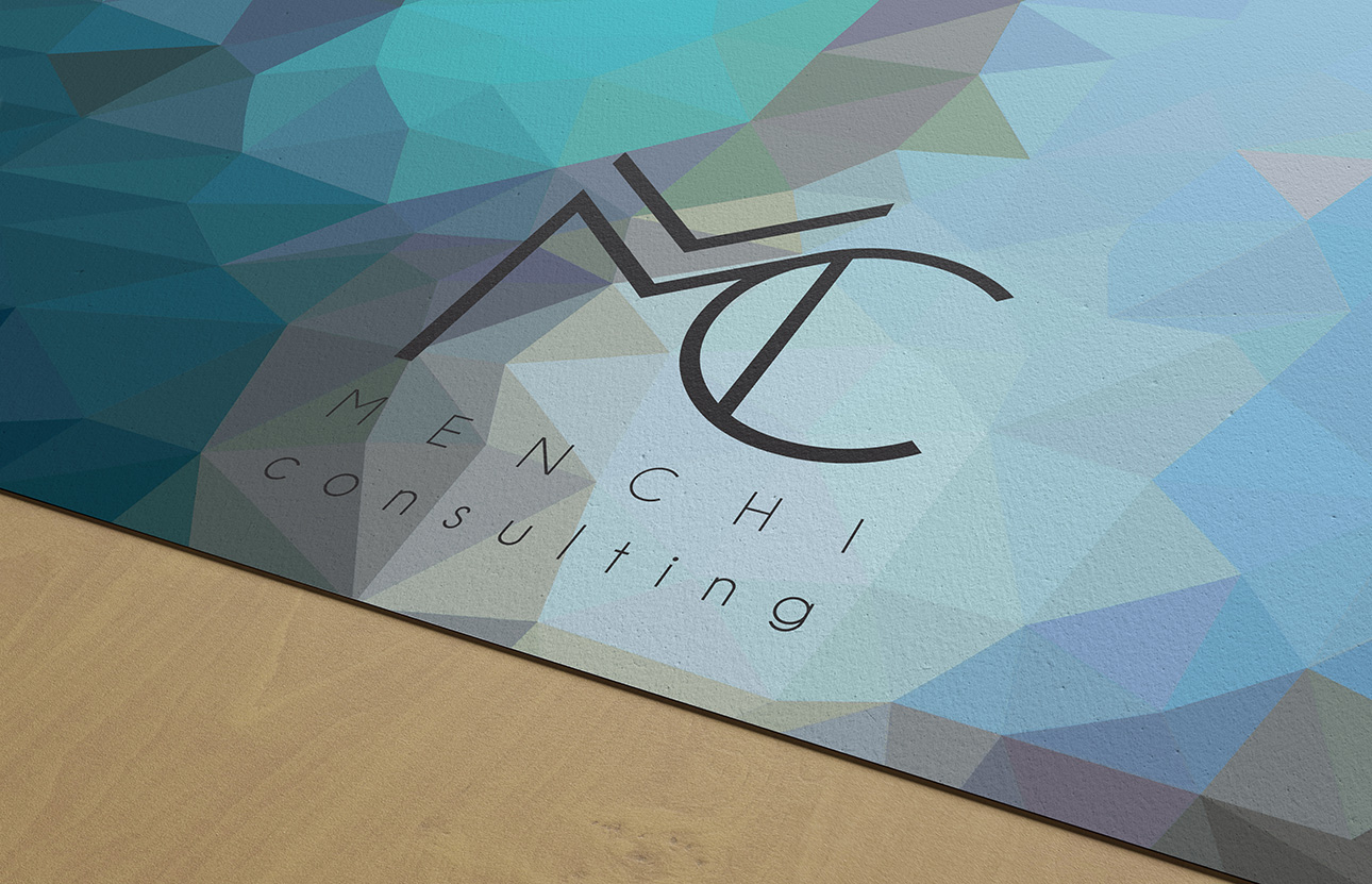 Grafica logo, immagine coordinata Menchi Consulting