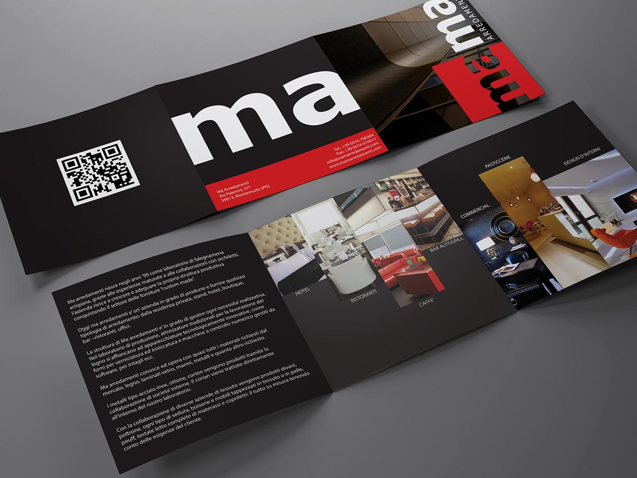 Grafica Brand identity, logo, immagine coordinata Ma Arredamenti