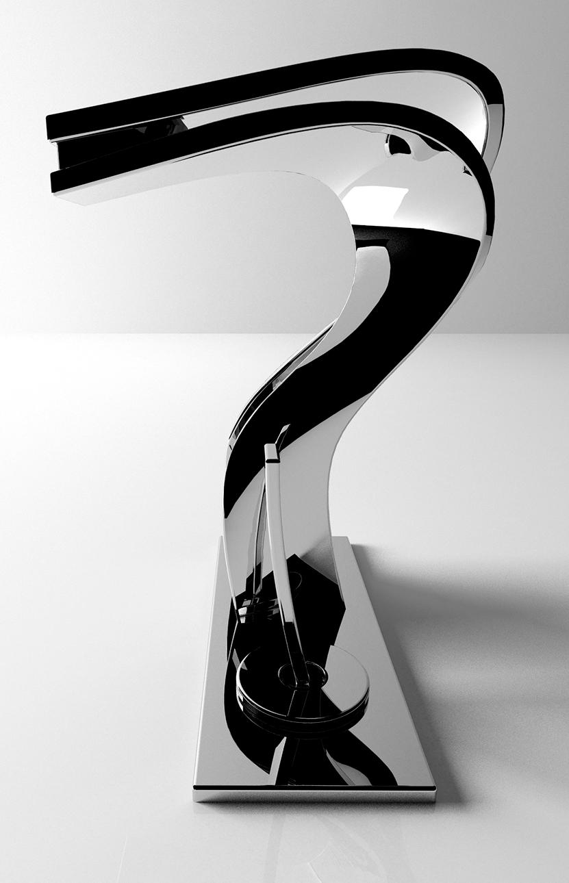 Product design rubinetterie Unio - progettazione, modellazione 3D e rendering