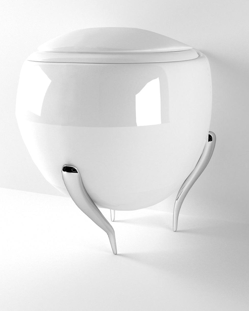 Product design sanitari Tripode - progettazione, modellazione 3D e rendering