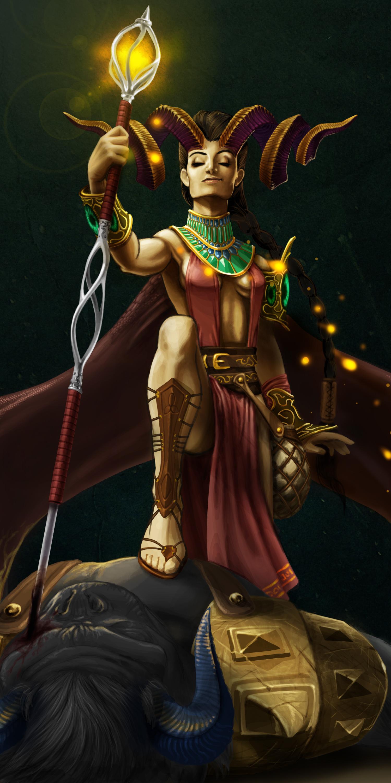 Illustrazione digitale, artwork, per libri e giochi di ruolo, progettazione personaggi fantastici - Victory