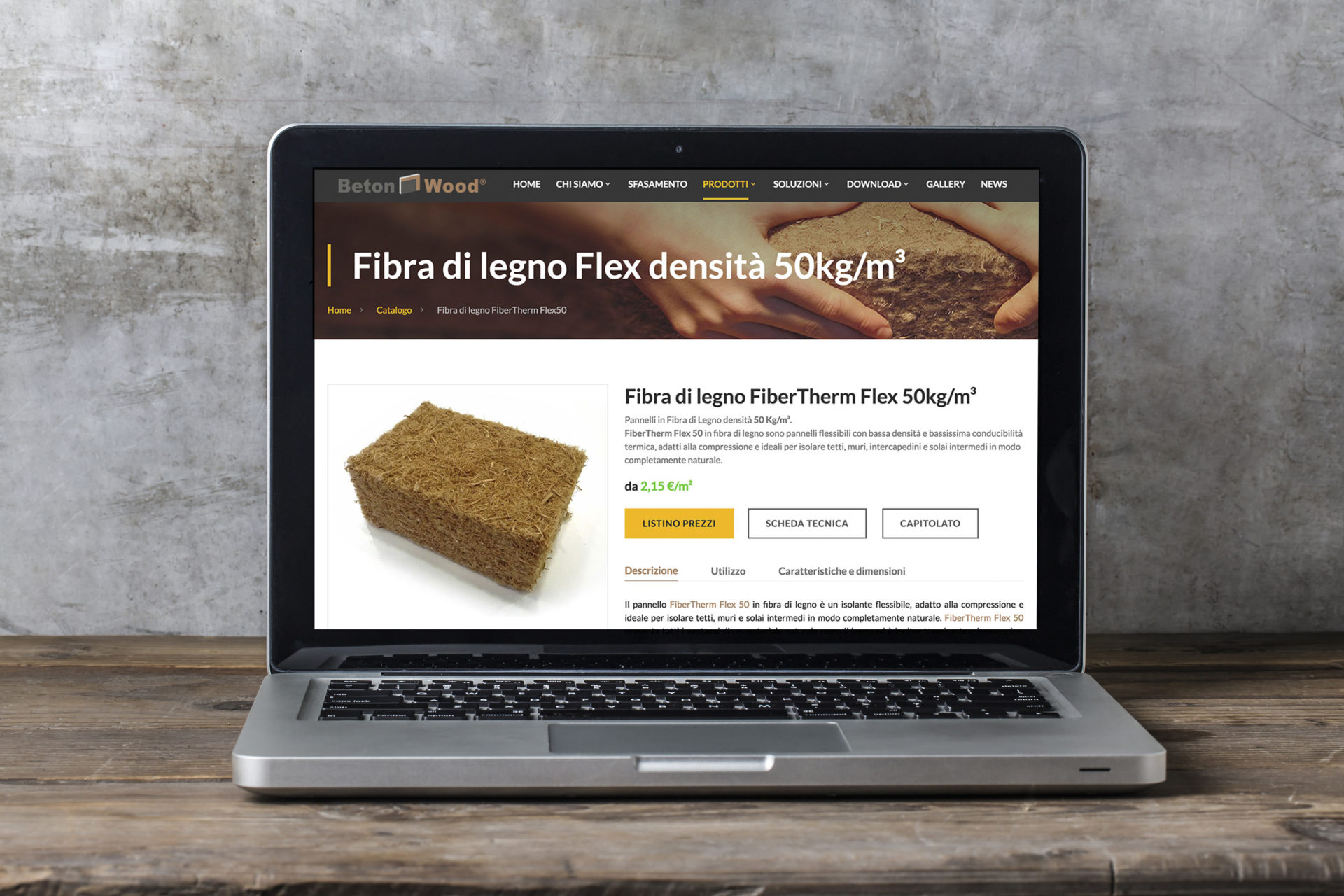 Web design e web develop Fibra di legno Fibertherm - progettazione e sviluppo di un sito web a layout responsive