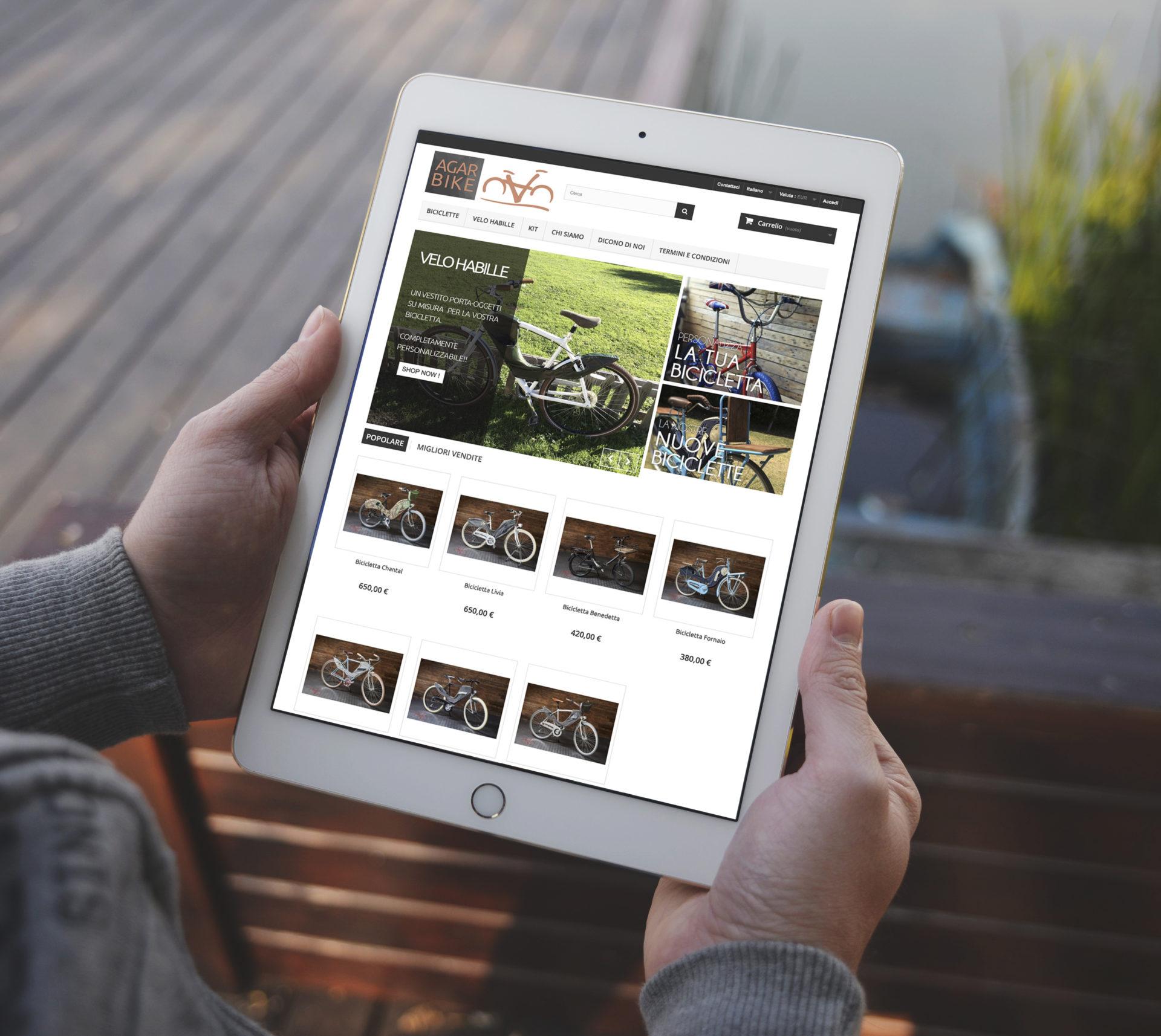 Web design e web develop e-commerce Agar bike - progettazione e sviluppo di un sito web ecommerce a layout responsive