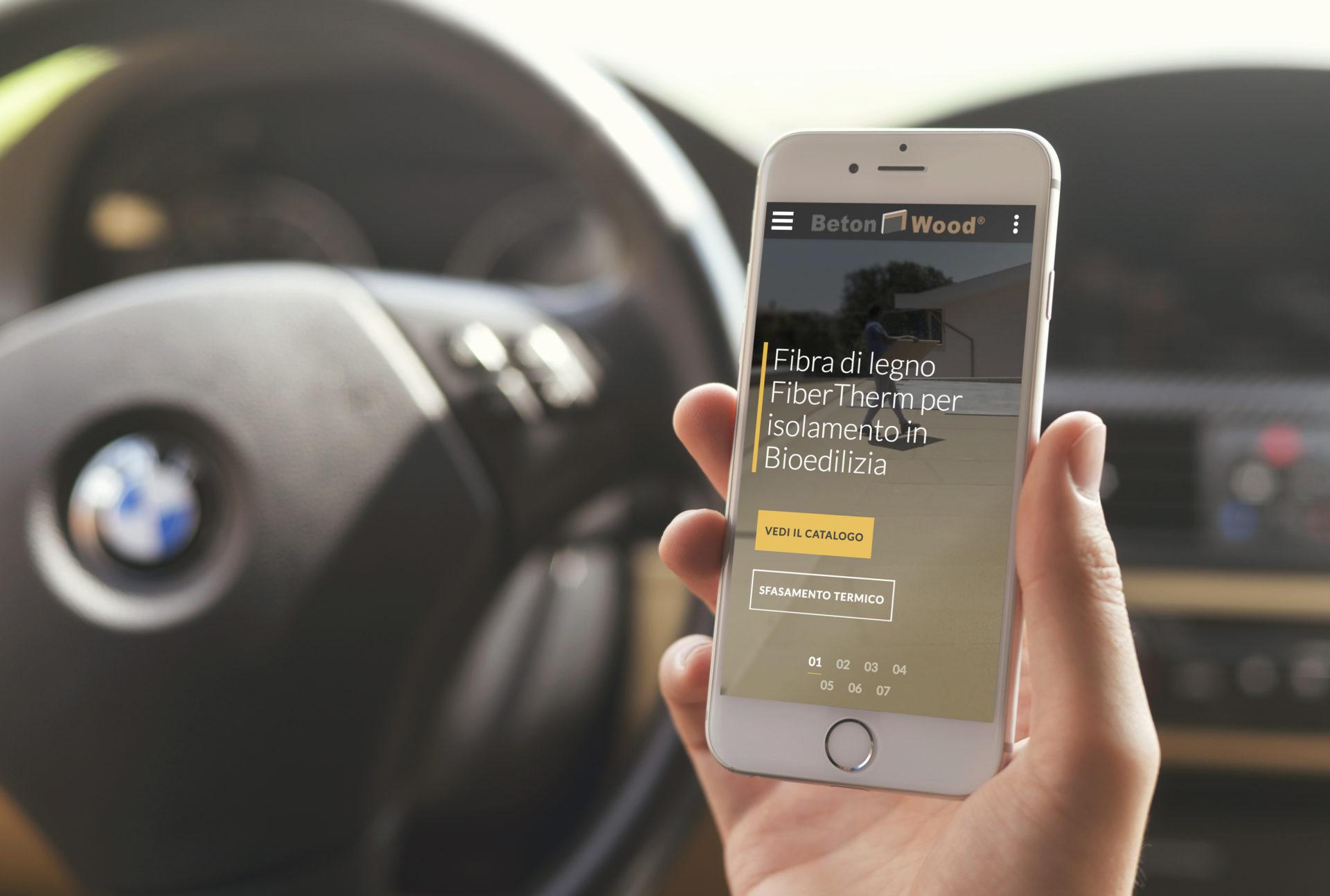 Web design e web develop Fibra di legno per iPhone - progettazione e sviluppo di un sito web a layout responsive
