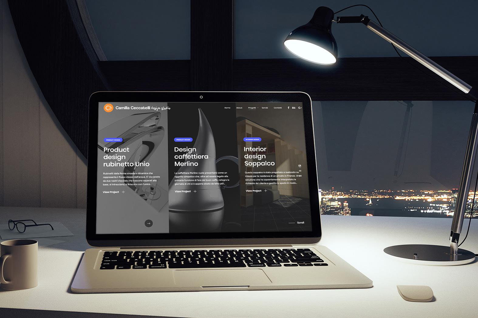 Web design e web develop Camilla Ceccatelli design studio - progettazione e sviluppo di un portfolio digitale a layout responsive