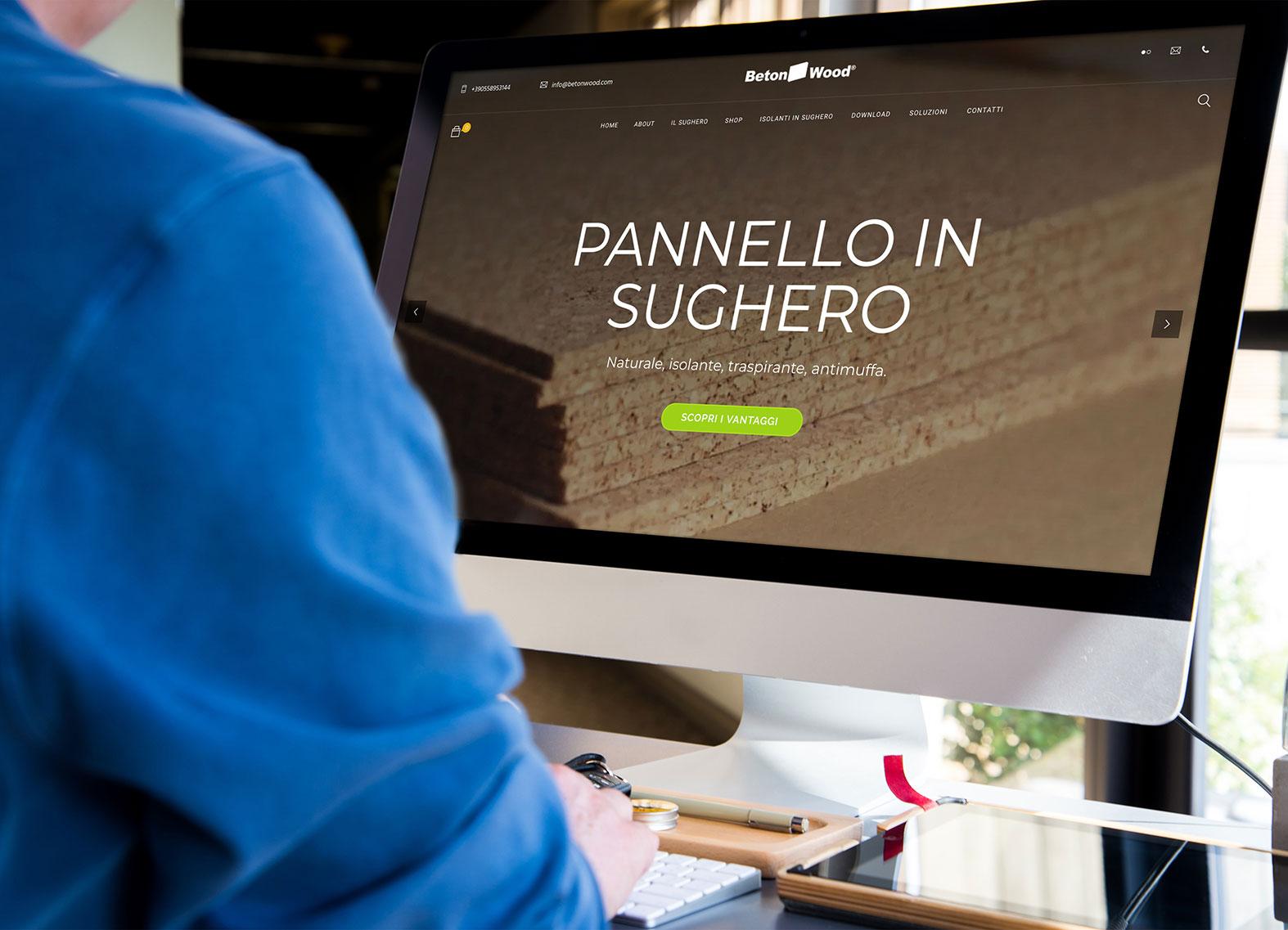 Web design e web develop Pannello sughero - progettazione e sviluppo di un e-commerce per la bioedilizia